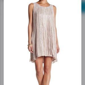Parker Sleeveless Embellished Sequin Fringe Dress